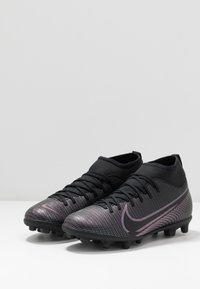 Nike Performance - MERCURIAL 7 CLUB FG/MG - Moulded stud football boots - black - 3