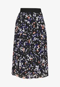 DKNY - PRINTED PLEATED SKIRT WAIST BAND - A-snit nederdel/ A-formede nederdele - black/multi - 3