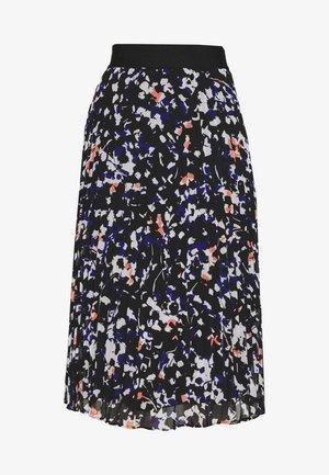 PRINTED PLEATED SKIRT WAIST BAND - Áčková sukně - black/multi