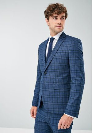 CHECK - Blazer jacket - blue