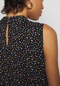 Dorothy Perkins - MULTI SPOT SHEERED NECK SLESS TOP - Bluse - black - 5