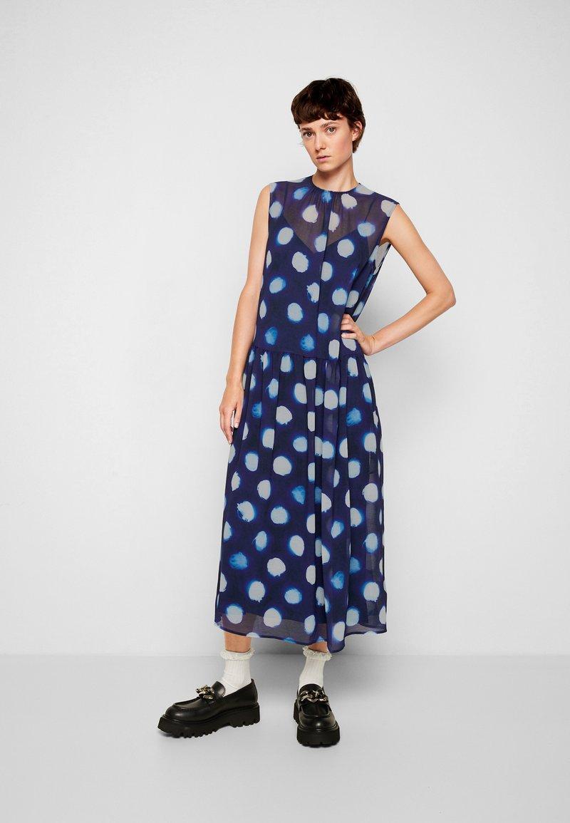 PS Paul Smith - DRESS 2-IN-1 - Day dress - dark blue