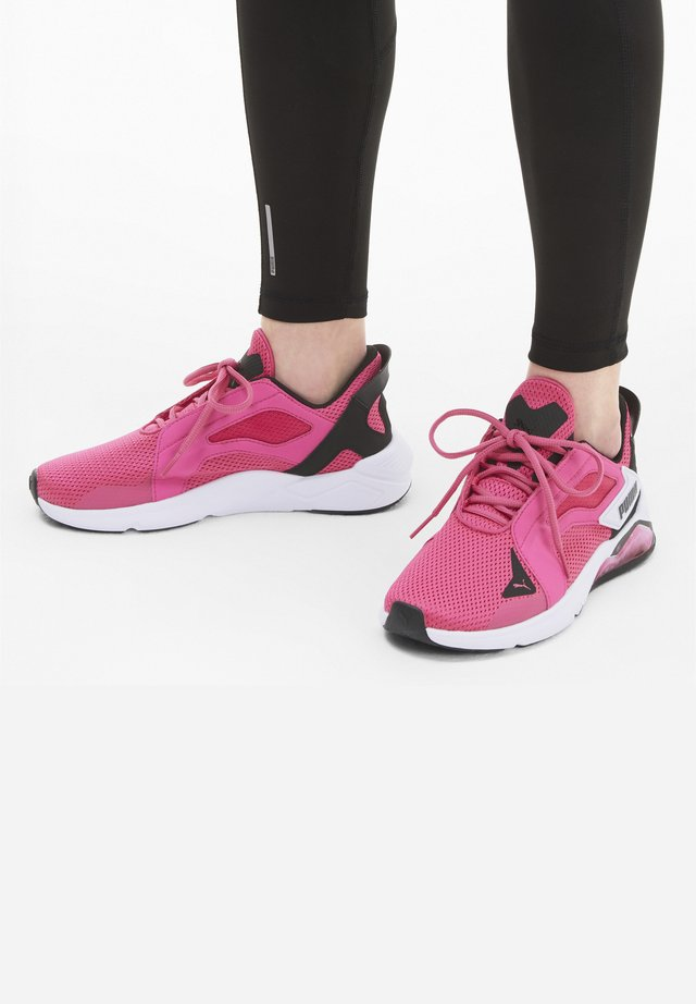 Trainers - glowing pink-black-white