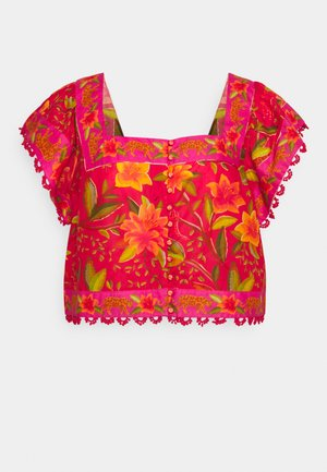 BUTTON DOWN BLOUSE - T-shirts med print - solar forest