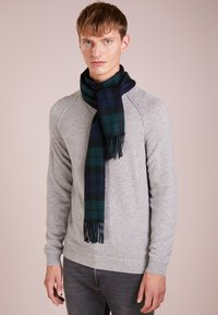 Barbour - NEW CHECK TARTAN SCARF - Scarf - navy - 0
