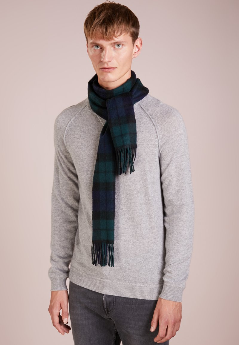 Barbour - NEW CHECK TARTAN SCARF - Scarf - navy