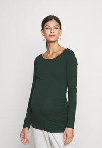 Anna Field MAMA - 3 PACK - Long sleeved top - black/dark red/dark green - 3