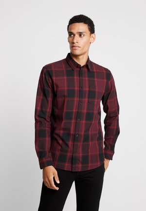 RAY CHECK - Shirt - burgundy /black
