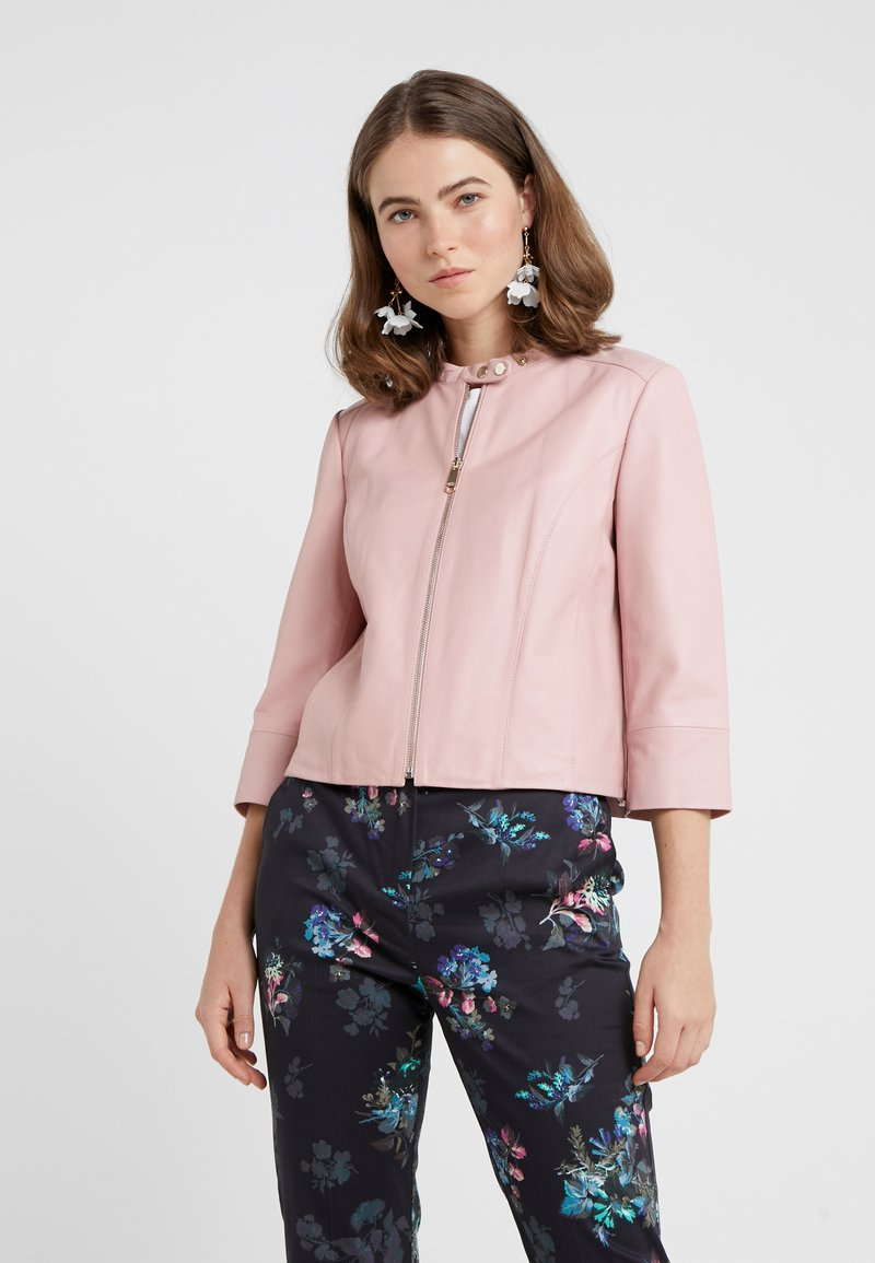 MAX&Co. - DENOTARE - Leather jacket - pink