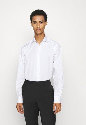 Contemporary Fit - Mushroom Print White Poplin Shirt - Zakelijk overhemd - white