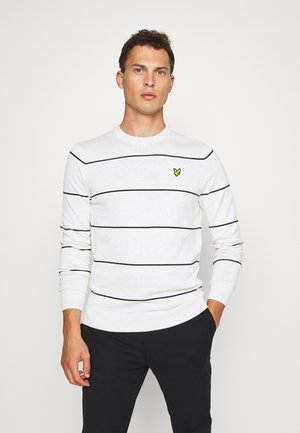 WIDE STRIPE CREW NECK JUMPER - Stickad tröja - marble white