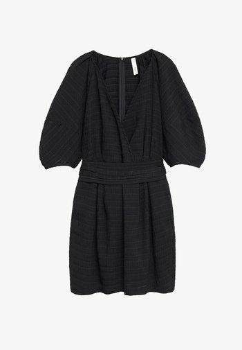 MED PUFFERMER - Day dress - svart