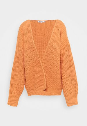 BATWING OVERSIZED CARDIGAN - Cardigan - orange