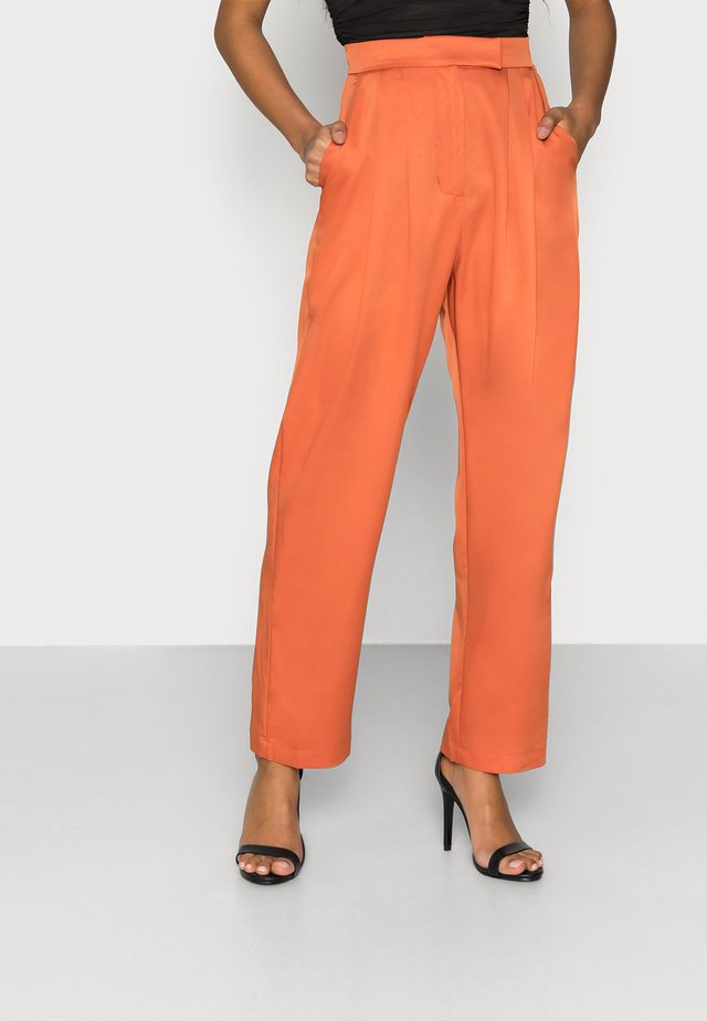 LADIES TROUSERS - Pantalon classique - rust