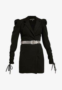 Missguided - CUFF EMBELLISHED BUCKLE BELT BLAZER DRESS - Korte jurk - black - 5