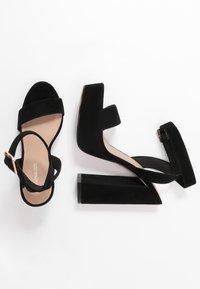 Even&Odd - LEATHER - Sandaler med høye hæler - black - 3