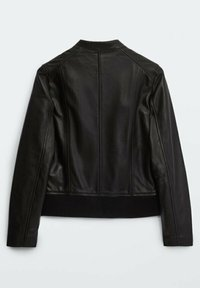 Massimo Dutti - MIT RIPPENMUSTER  - Leather jacket - black - 1