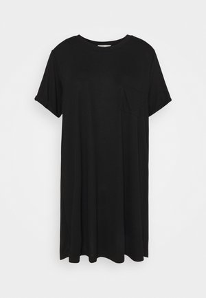 RELAXED TEE DRESS - Jersey dress - black