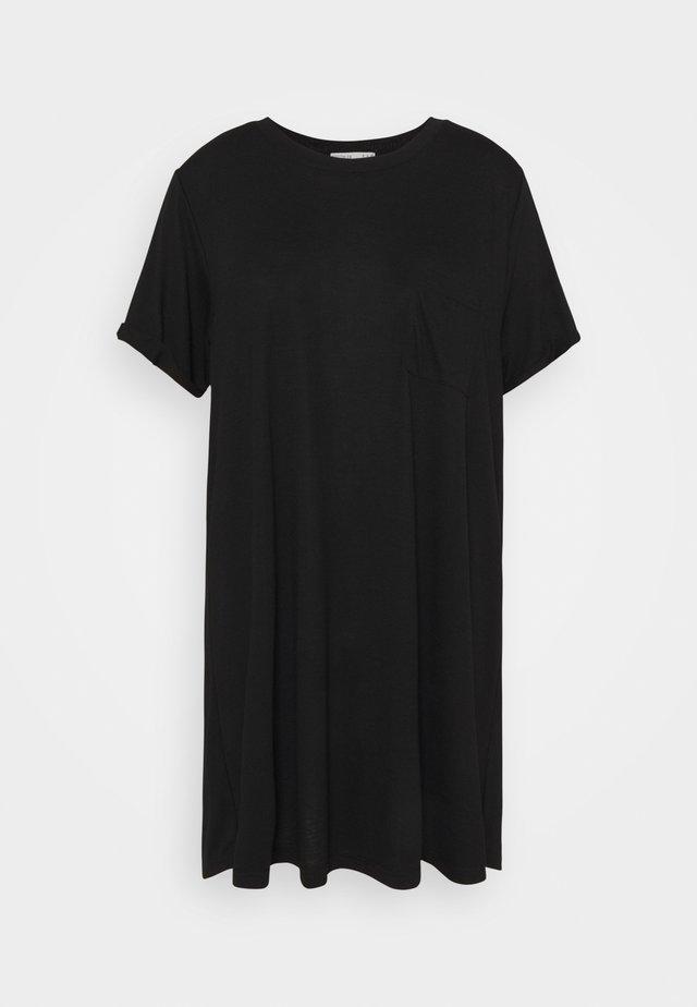 RELAXED TEE DRESS - Jerseyjurk - black