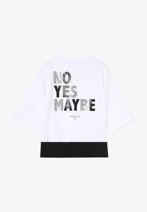 MAXI NO YES - Print T-shirt - bianco