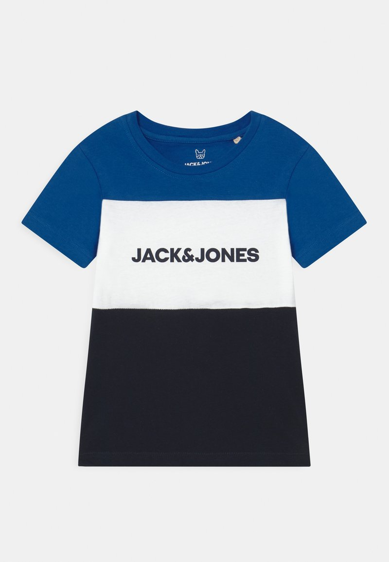 Jack & Jones Junior - JJELOGO BLOCKING TEE - Print T-shirt - classic blue