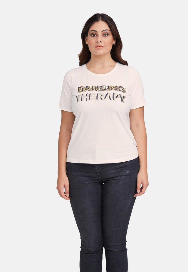 CON SCRITTE DAVANTI - T-shirt con stampa - bianco