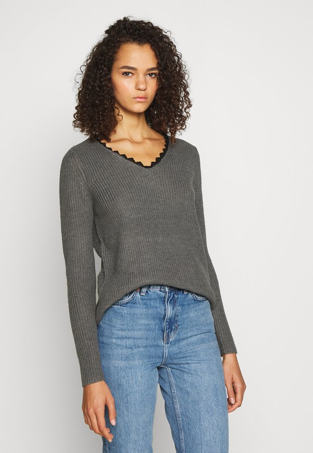 ONLJENNIE LIFE - Jumper - medium grey melange