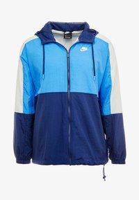 Training jacket - midnight navy/pacific blue/light bone/white