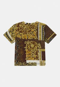 Versace - BAROQUE PRINT PATCHWORK UNISEX - Print T-shirt - gold/brown/white - 1