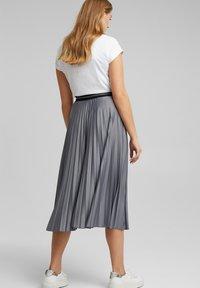 Esprit - A-line skirt - gunmetal - 4