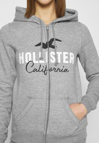 Hollister Co. - TECH CORE - Sudadera con cremallera - grey - 5