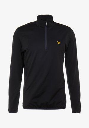 TECH ZIP MIDLAYER - Fleece jumper - true black