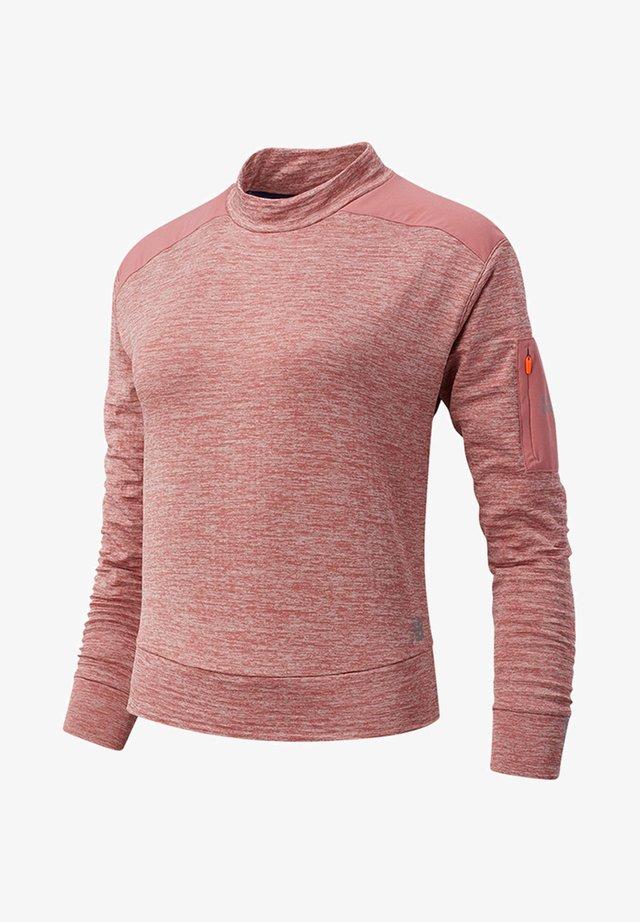 HEAT GRID LONG SLEEVE - Långärmad tröja - off road heather