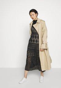 MRZ - SEETHROUGH DRESS - Pletené šaty - black - 1