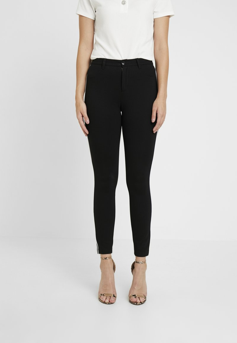 ONLY Petite - ONLEVIE  ANKLE  PIPING - Leggings - Trousers - black