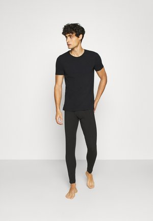 CREW NECK 2PACK - Pyjama top - schwarz