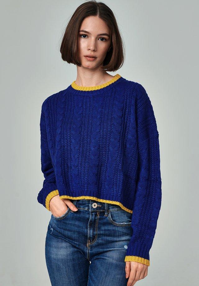 GANDÍA - Stickad tröja - royal blue