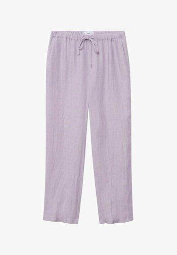Spodnie materiałowe - světle/pastelově purpurová