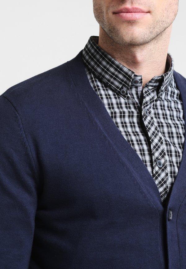Pier One Kardigan - dark blue/granatowy Odzież Męska CEPM