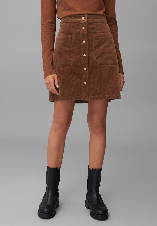 A-line skirt - fantastic brown
