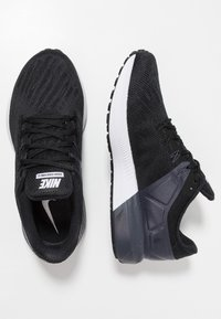 Nike Performance - AIR ZOOM STRUCTURE  - Stabilty running shoes - black/white/gridiron - 1