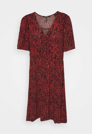 PRINTED DRESS WITH FITTED WAIST - Denní šaty - combo