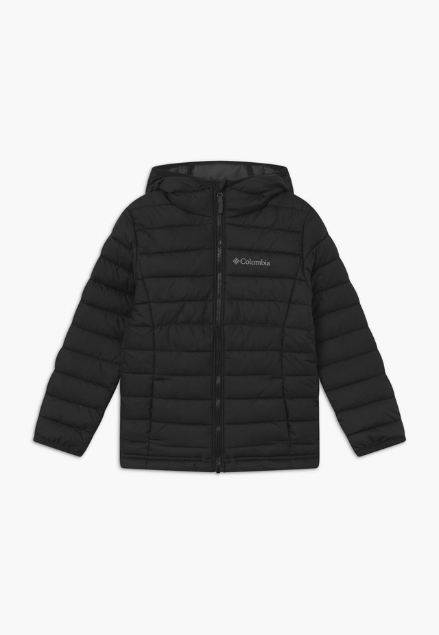 POWDER LITE BOYS HOODED - Snowboardová bunda - black