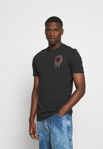 CEREMONY BRACE CREW - Print T-shirt - jet black
