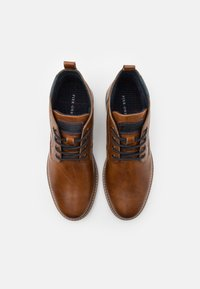 Pier One - LEATHER - Lace-up ankle boots - cognac - 3