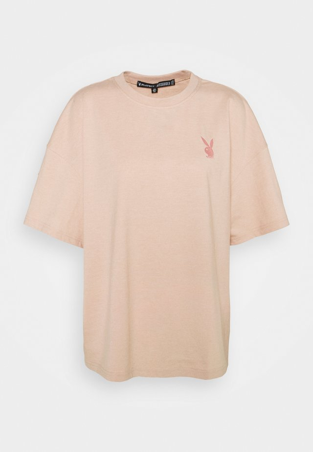 PLAYBOY LOGO DETAIL - T-shirt print - blush