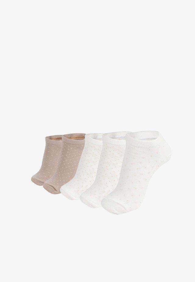 5 PAIRS - Ponožky - white