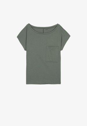 BRUSTTASCHE - Basic T-shirt - light military