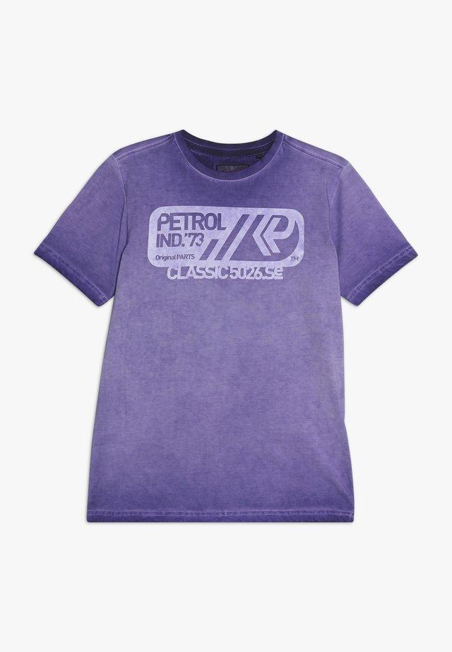 T-shirt med print - dark grape