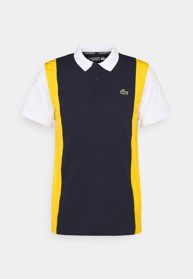 BLOCK - Poloshirt - navy blue/broom white